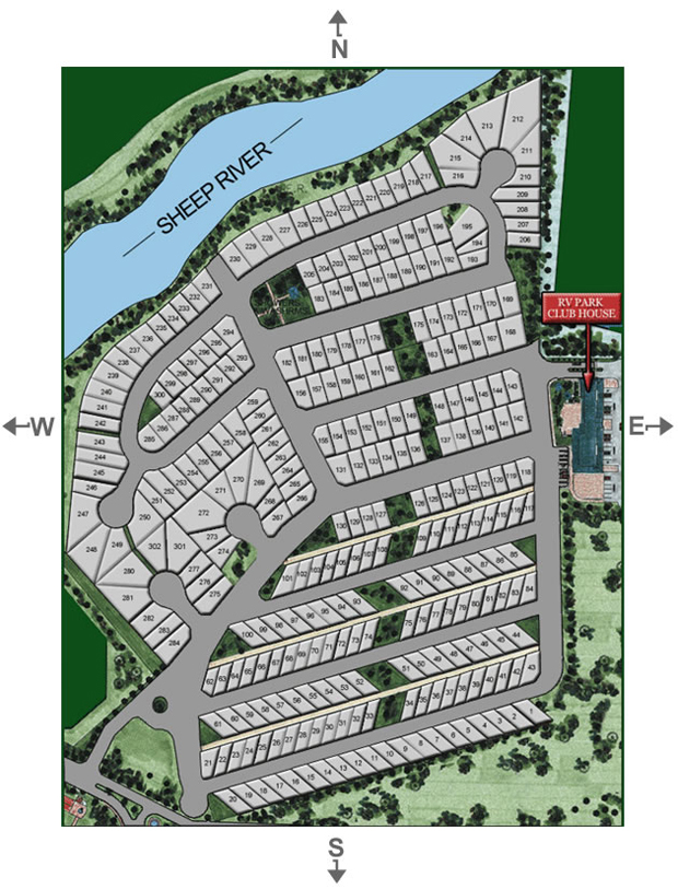 Calgary RV Lot Rentals Park Map